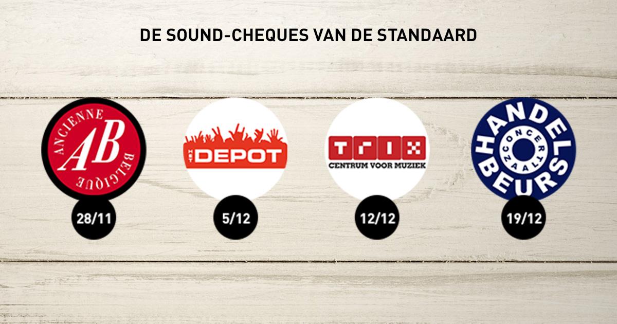 gratis sound cheques ab het depot trix en handelsbeurs de standaard. Black Bedroom Furniture Sets. Home Design Ideas