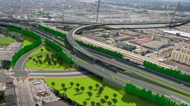 Viaduct aan Merksem